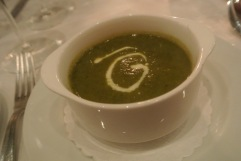 Sorrel Soup at Bistro Versailles in Greenwich, CT