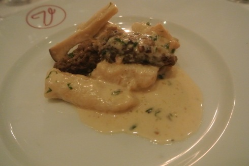 Gnocchi and Morel Mushrooms at Bistro Versailles in Greenwich, CT