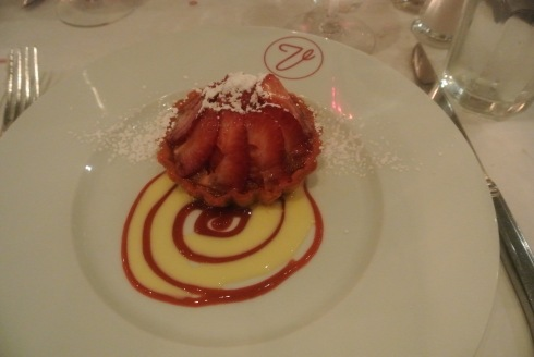 Strawberry Rhubarb Tart at Bistro Versailles in Greenwich, CT