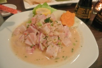 Ceviche de Pescado at Aji 10 in Norwalk, CT