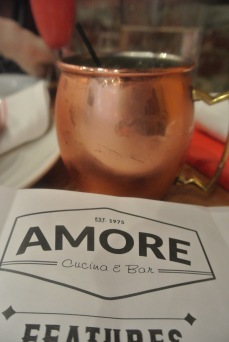 Mezcal Mule at Amore Cucina & Bar in Stamford