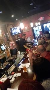 The bar at Hoodoo Brown BBQ in Ridgefield, CT