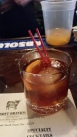 Smoked Maple Old Fashioned at Hoodoo Brown BBQ in Ridgefield, CT
