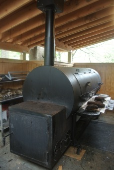 "The 108"" Lang Smoker at Hoodoo Brown BBQ in Ridgefield"