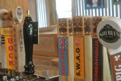 Some of the brews on tap (with more in bottles) at Hoodoo Brown BBQ in Ridgefield