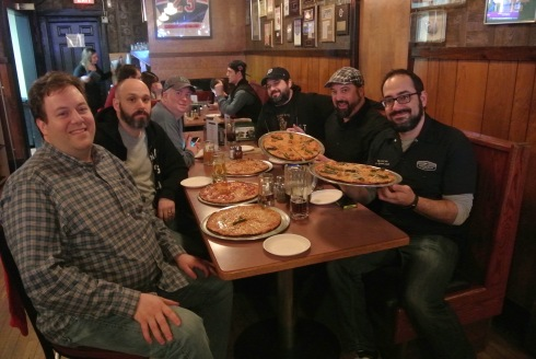 NY Wing Off stopped at Colony Grill Stamford after a day of eating countless hot wings