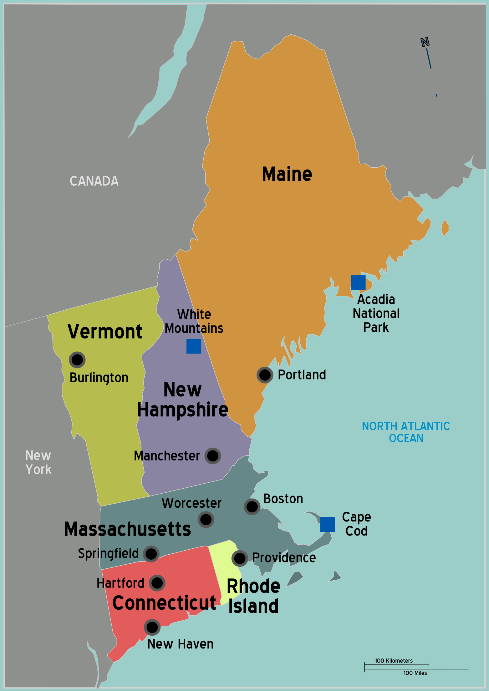 A Lesson On New England Geography And Beer For Bostoncom OmNomCT - Map usa connecticut