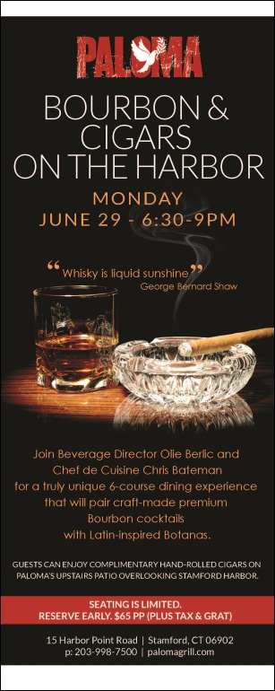 Paloma Bourbons & Cigars on The Harbor Poster Info