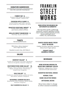Franklin Street Works Menu