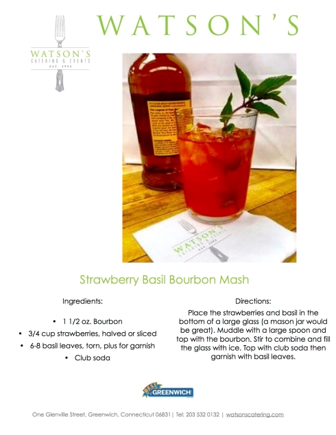 Watson's Strawberry Bourbon Smash
