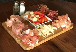 A nice salumeria platter from Lugano in Old Greenwich. Photo from Nick Racanelli Jr.