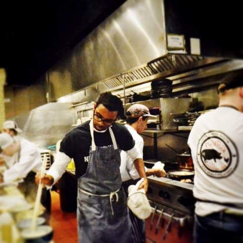 Chef Mogan Anthony of Locali in New Canaan at his Mura Ramen + Gastropub Pop-up! Picture from Mura Ramen Facebook page.