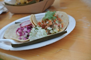 Philippine Chicken Adobo Tacos and Korean Short Rib Tacos at HAPA Food Truck