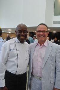 Chef Francois Kwaku-Dongo and David Cingari of The Landing from David's Soundview Catering
