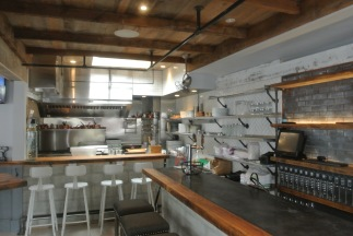 The chef's table and bar at South End Uncorked in New Canaan CT