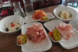 Meat and cheese plate at Lugano in Greenwich