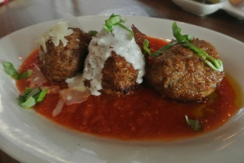 Meatball Sampler at Lugano in Greenwich