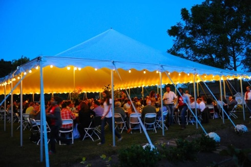 A night with food, drinks, and good company all under the summer sky. Photo courtesy of Wakemen Town Farm