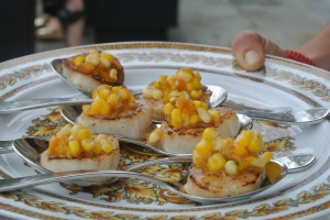 Scallops and sweet corn from Chef Cooper of Bonda