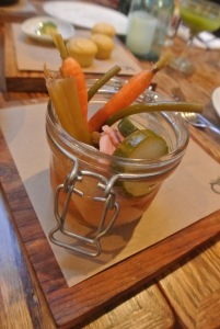 Pickle jar  at Back 40 Kitchen in Greenwich CT