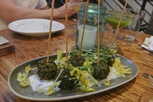 Falafel  at Back 40 Kitchen in Greenwich CT