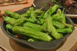 Shishito peppers  at Back 40 Kitchen in Greenwich CT