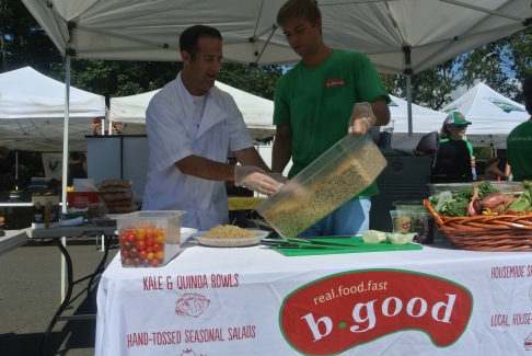 Co-founder and chef, Tony Rosenfeld of b. good