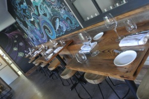 Walk-in dining tables at Mill Street Bar & Table