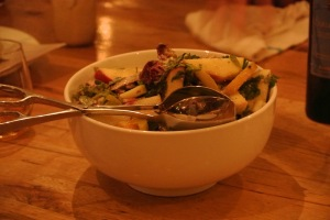 Salad with apples and Bleu cheese at The Whelk