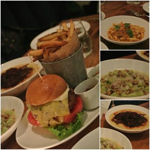 Pastured Beef Burger, Ricotta Cavatelli, Potato Gnocchi, and Pork Meatballs