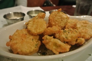 Fried pickles at The Crafty Monk in Black Rock, CT