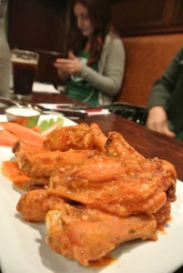 Buffalo Garlic wings at The Crafty Monk in Black Rock, CT