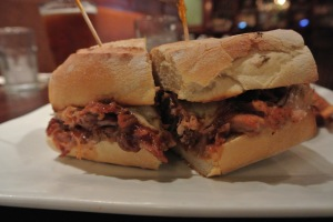 BBQ Pulled Pork Sandwich at The Crafty Monk in Black Rock, CT