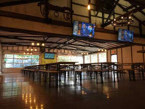 The main room at THC beer garden in Derby. Pic from THC's FB page.