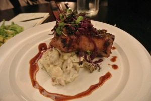 Maple Brined Double Cut Pork Chop at Cask Republic SoNo
