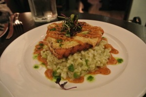 Mustard Crusted Canadian Salmon at Cask Republic SoNo
