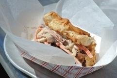 Sausage Patty Sandwich at Pizza Surf Club @ Fortina Stamford