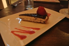 Chocolate Tart with Goat Cheese at Tablao in South Norwalk, CT