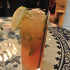 Blood Orange Mojito cocktail at WUJI in Greenwich, CT