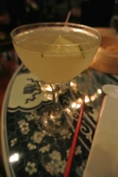 Cucumber Lemongrass Martini cocktail at WUJI in Greenwich, CT