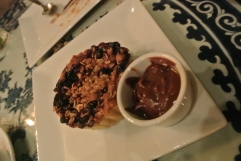 Blueberry and Peach Oat Tart at WUJI in Greenwich, CT